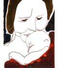 Mor og barn illustration